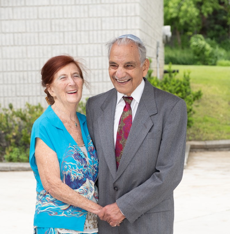 Sonya, pictured with her husband Mervyn.